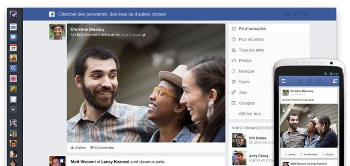 facebook nouveau design
