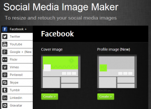 Social media iamge maker