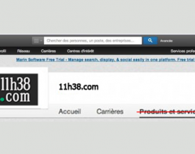 LinkedIn onglet produits