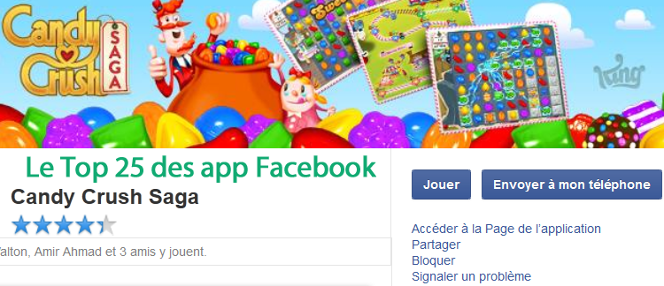 Top 25 applications Facebook