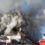 Risque de propagation de l'incendie sur le site des Ponts-de-Cé